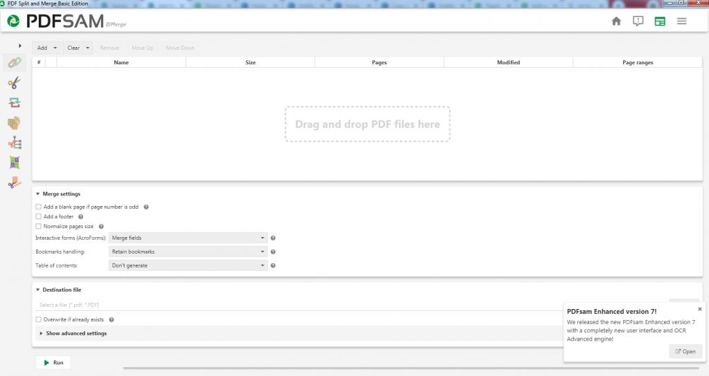 How Do I Merge PDF Files in Sam?